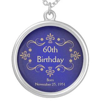 60.o Collar del cumpleaños - colgante del marco de