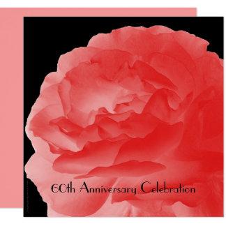 """60.o Color de rosa rosado coralino de la Invitación 5.25"""" X 5.25"""""""