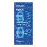 60.o Confetis azules grande W363 del cumpleaños Invitación 10,1 X 23,5 Cm