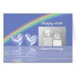 60.o Corazones del diamante del aniversario (para  Felicitacion