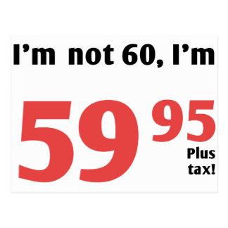 60 o cumpleaños de la diversión más impuesto tarjetas postales