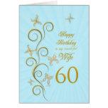 60.o cumpleaños de la esposa con las mariposas de felicitacion