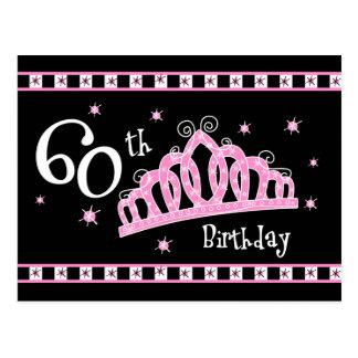 60 o cumpleaños de la tiara tarjetas postales
