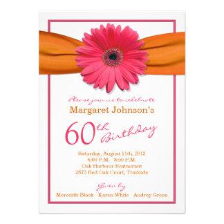 60 o cumpleaños del Gerbera de la cinta anaranjada