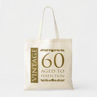 60.o cumpleaños del vintage de lujo bolsa de mano