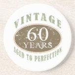 60.o cumpleaños del vintage posavasos cerveza