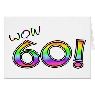 60.o CUMPLEAÑOS del wow Tarjeta De Felicitación