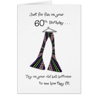 60.o cumpleaños divertido en tarjetas de las