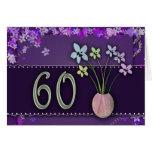 60.o cumpleaños feliz tarjeta de felicitación