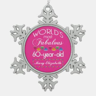 60 o Cumpleaños la mayoría del rosa colorido