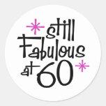 60.o Cumpleaños Pegatina