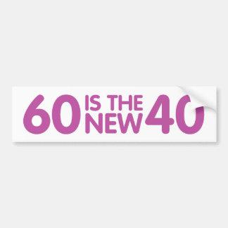 60.o cumpleaños pegatina para auto