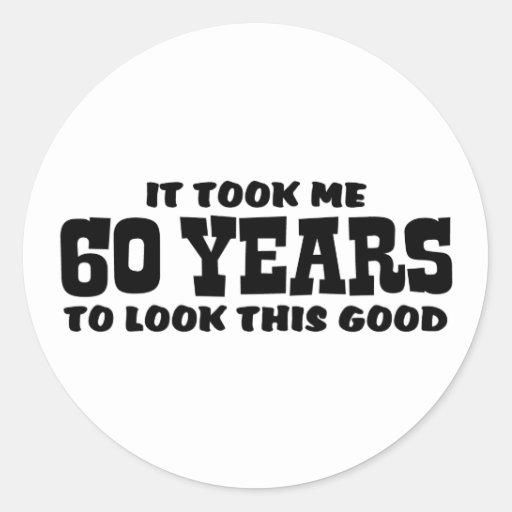 60.o Cumpleaños Pegatina Redonda