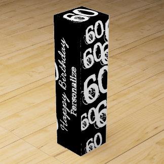 60.o cumpleaños personalizado caja para botella de vino