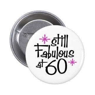 60.o Cumpleaños Pin Redondo De 2 Pulgadas
