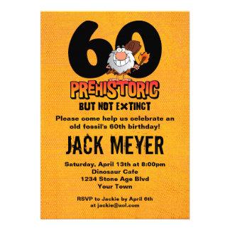 60 o cumpleaños prehistórico invitación personalizada