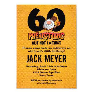 60.o cumpleaños prehistórico invitación 12,7 x 17,8 cm