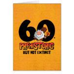 60.o cumpleaños prehistórico tarjeta