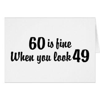 60.o Cumpleaños Tarjeta De Felicitación