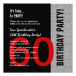 60.o Cumpleaños W1471 divertido negro de plata roj Comunicados Personales
