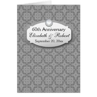 60.o Diamante A24 del aniversario de boda del Tarjeta Pequeña