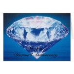 60.o diamante feliz de la tarjeta del aniversario