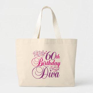 60.o Diva del cumpleaños Bolsas De Mano