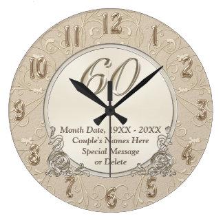 60.o El reloj del aniversario con SU TEXTO o lo