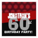 60.o El rojo de la fiesta de cumpleaños Invitacion Personal