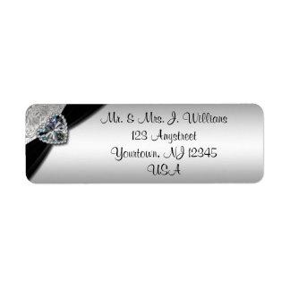 60.o Etiqueta del remite del aniversario de boda Etiqueta De Remitente