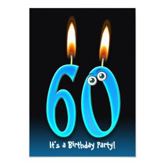 """60.o Fiesta de cumpleaños Invitación 5"""" X 7"""""""