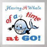 60.o Humor del cumpleaños (ballena) Impresiones