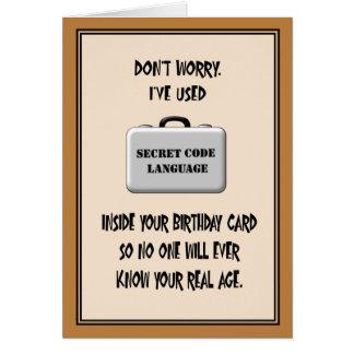60.o humor del cumpleaños del secreto tarjeta de felicitación