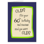 60.o Humor del cumpleaños Tarjetas