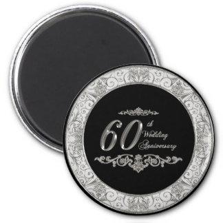 60.o Imán del aniversario de boda