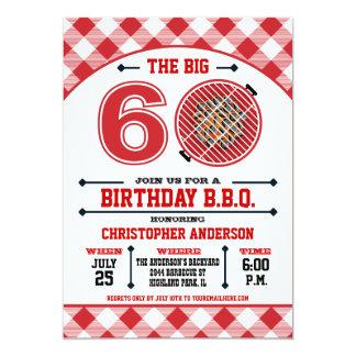 60.o Invitación de la barbacoa del cumpleaños