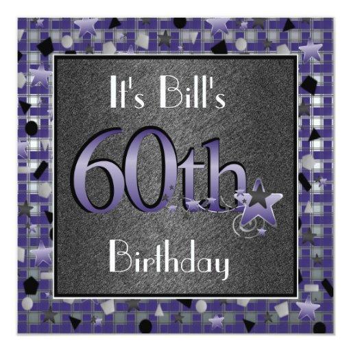 60.o Invitación de la fiesta de cumpleaños