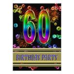 60.o Invitación de la fiesta de cumpleaños con las