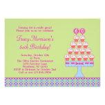 60.o Invitación de las magdalenas del cumpleaños