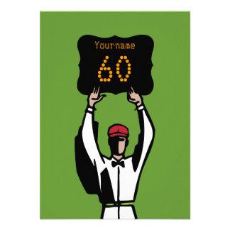 60 o Invitación del fiesta del fútbol del cumpleañ