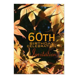 60.o Invitación del personalizado del otoño de la Invitación 12,7 X 17,8 Cm