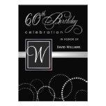 60.o Invitaciones de la fiesta de cumpleaños - con
