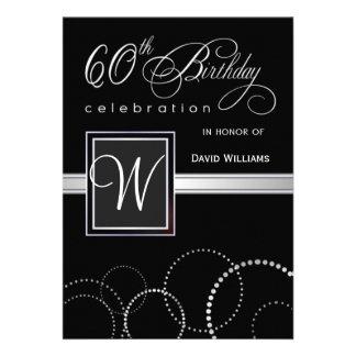 60 o Invitaciones de la fiesta de cumpleaños - con