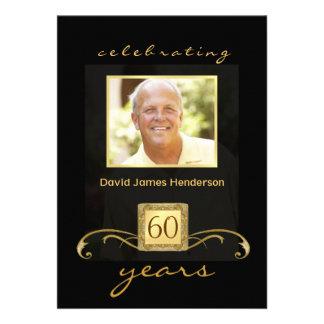 60 o Invitaciones de la fiesta de cumpleaños - for