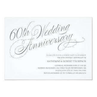 60.o Invitaciones del aniversario de boda Comunicado Personal
