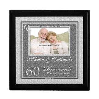 60.o Joyero de la foto del aniversario del diamant Cajas De Recuerdo