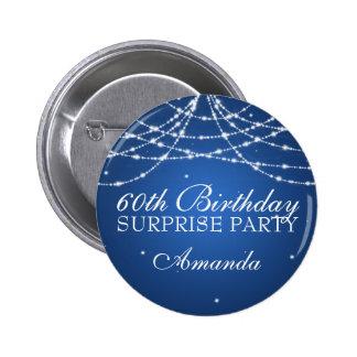60.o La secuencia de la fiesta de cumpleaños de la Pin Redondo De 2 Pulgadas