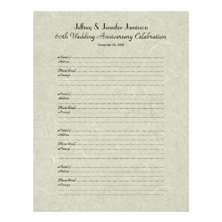 60.o Libro de visitas de la fiesta de aniversario Membrete A Diseño