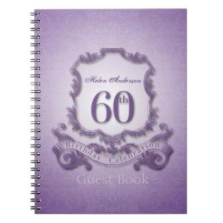 60.o Libro de visitas enmarcado personalizado de Libretas