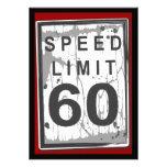 60.o Muestra sucia del límite de velocidad de la f Comunicado Personalizado